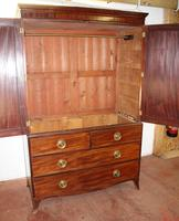 1900's Mahogany Linen Press All hanging with 2 Drawers (4 of 4)