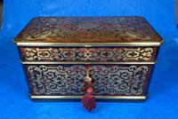 Victorian French Tortoiseshell Twin Canister Tea Caddy (5 of 17)