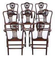 Set of 8 (6+2) Georgian Mahogany Dining Chairs c.1820 (2 of 10)