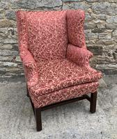 Victorian Mahogany Framed Wing Armchair (10 of 15)