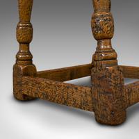 Small Antique Joint Stool, Oak, Seat, Side Table, Jacobean Revival, Victorian (4 of 11)