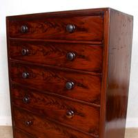 Cuban Mahogany Chest of Drawers 19th Century Tallboy (9 of 12)