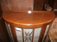Bow Front Walnut Display Cabinet (2 of 3)