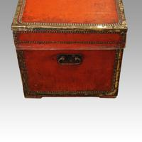 Regency Red Leather Camphorwood Trunk (5 of 8)