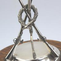 Sporting Antiques : Large Novelty Silver Plate Shooting Trophy The Jones 1940-50 (4 of 8)