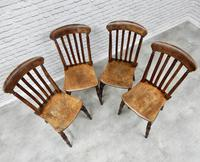 Set of 4 Antique Windsor Lathback Kitchen Chairs (3 of 5)