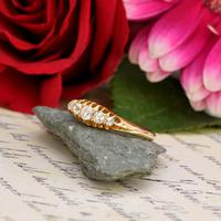 The Antique 1910 Edwardian Old European Cut Five Diamond Ring (4 of 4)