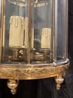 Pair of French Triple Light Circular Lanterns (7 of 11)