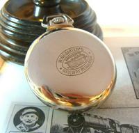 Antique Pocket Watch 1920s Winegartens 7 Jewel Railway Regulator Silver Nickel Case FWO (8 of 12)