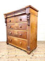 Large Victorian Oak & Mahogany Chest of Drawers (7 of 10)