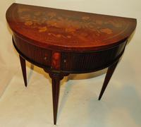 Dutch Mahogany & Marquetry Side Table (2 of 11)