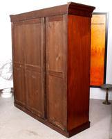 Wardrobe Triple Compactum Wardrobe Victorian Mahogany (12 of 12)