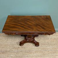 Fine Quality William IV Figured Mahogany Antique Card / Games Table (4 of 7)