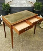 Victorian Mahogany Two-Drawer Writing Desk (3 of 8)