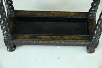 Victorian Carved Oak Stick Stand (4 of 10)