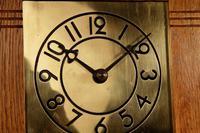Small Very Stylish Blond Oak Wall Clock in Bauhaus Style (5 of 8)