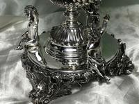 Pair English Sheffield Silver Champagne Rock Crystal Ice Cooler Cherub Vases (9 of 12)