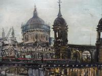 Large Oil on Board The Thames Listed Artist Sheila Appleton (12 of 12)