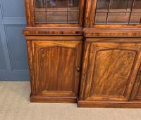 William IV Mahogany Breakfront Bookcase (9 of 15)