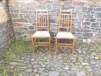 Pair of Arts & Crafts Scottish Chairs by E.A.Taylor (10 of 10)