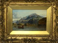 """19th Century Oil Painting """"Bonnie Prince Charlie Crossing To Skye"""" Clarkson Frederick Stanfield RA RBA 1793-1867 (4 of 27)"""