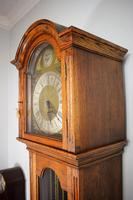 Light Honey Coloured Oak Glass Fronted Grandfather or Grandmother with British  8 Day Triple Weight Quarter Chiming Westminster Musical Longcase (5 of 9)