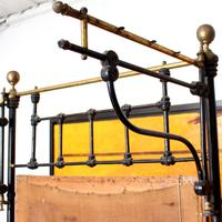 Cast Iron Bed Frame Brass Victorian 19th Century (8 of 9)