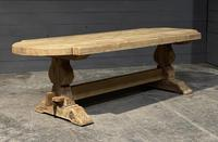Large Rustic French Bleached Oak Farmhouse Dining Table (18 of 40)