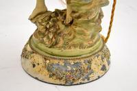 Antique Art Nouveau Table Lamp by L & F Moreau (6 of 10)