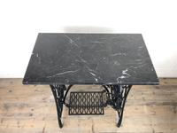Antique Singer Sewing Machine Table with Marble Top (2 of 8)