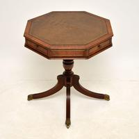 Regency Style Mahogany  Leather Top Drum Table (2 of 8)
