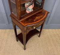 Edwardian Slender Inlaid Mahogany Display Cabinet (17 of 21)