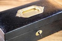 Leather Jewellery Box 1920's (6 of 7)