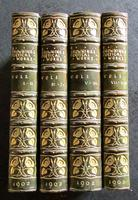 1902 Poetical Works of Robert Browning 17 Volumes Bound into 4 Books Art Nouveau Leather Bindings