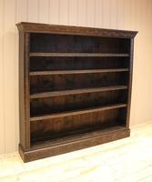 Large Victorian Open Dark Oak Bookcase (4 of 10)