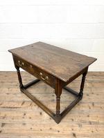 Antique Georgian Oak Side Table (8 of 10)