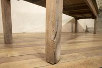 Large Scale 19th Century French Sycamore & Oak Farmhouse Table & Benches (12 of 19)