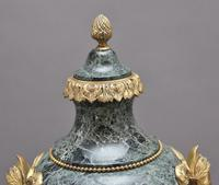 Pair of 19th Century French Marble & Cassoulet Urns (6 of 13)
