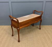 Mahogany Piano Duet Stool (6 of 8)