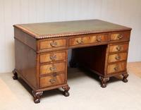 Large Mahogany Pedestal Desk (6 of 12)