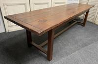 Long French Oak Farmhouse Dining Table (2 of 17)