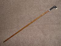 Antique Hallmarked 1902 Silver Walking / Gadget Sword Stick With Horse Leg / Hoof Handle (7 of 15)