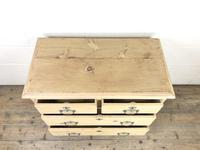 Small Antique Pine Chest of Drawers (6 of 9)