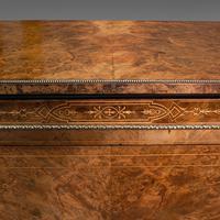 Antique Credenza, English, Burr Walnut, Sideboard, Display Cabinet, Regency (8 of 12)