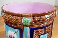Late 19th Century Large Decorative Floor Standing Majolica Planter (7 of 12)