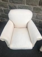 Pair of antique English armchairs for recovering (6 of 9)