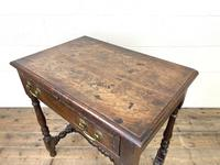 18th Century Antique Oak Side Table with Drawer (8 of 10)
