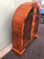 Art Deco Figured Walnut Display Cabinet (2 of 10)