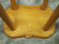 Carved Oak Mouseman Stool (6 of 6)