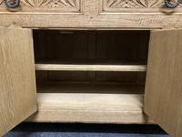 French Gothic Bleached Oak Sideboard (5 of 17)